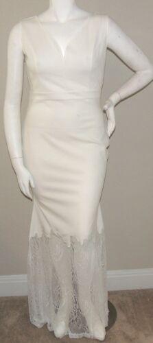 Goodtime USA Fit /& Flare Mermaid Lace Hem Maxi Dress White Plus 1XL 2XL 3XL New!