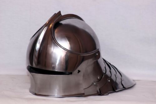 18GA Medieval Long Tail German Sallet Helmet Knight Armor Helmet Replica AB44