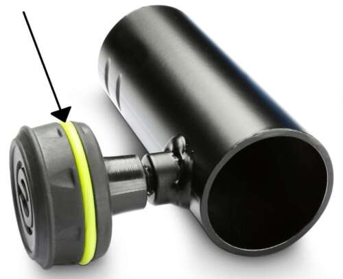"""2x GRAVITY Reduzierflansch Adapter 35mm auf 3//8/"""" Gewinde Boxenflansch Flansch"""