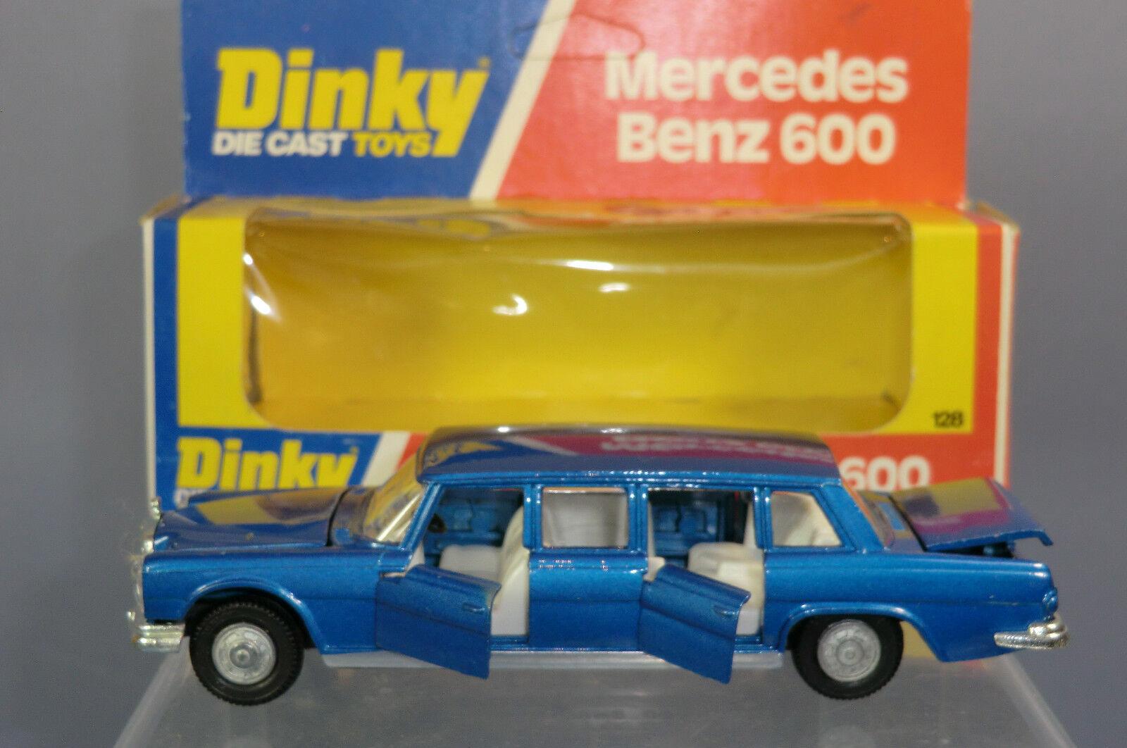 Mercedes - benz no.128 dinky spielzeug - modell 600 limousine mib