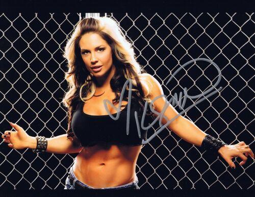 Autographed 8x10 Photo  w//COA Celeste Bonin WWE TNA Wrestling Kaitlyn