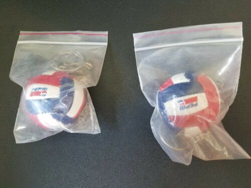SET OF TWO PEPSI KEY RING CHAIN HOLDER NEW IN PACKAGE