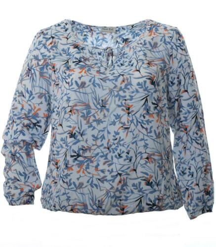 Größen Orange Weiß End Hellblau Blusenshirt Mit Damen Blumenmuster Open Große CzAHq1
