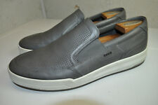 1c97f7c1540c ECCO Jack Perforated Slip On Fashion Sneaker Grey Leather 45 Men 11 to 11.5  M