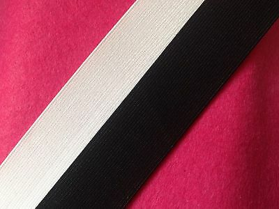 "Flat Elastic Best Quality Black/White most Sizes Available 2mm-75mm / 1""-3"" inch"
