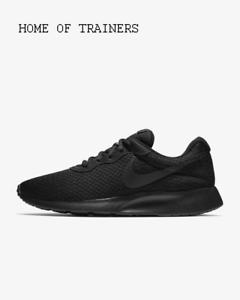 Nike-Tanjun-Negro-Antracita-Negro-Para-hombre-Zapatillas-Todos-Los-Tamanos