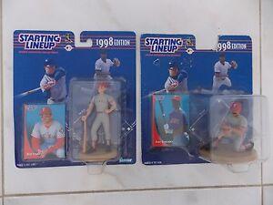Starting Lineup MLB 1998 Lot of 2 Texas Rangers Juan Gonzalez & Will Clark