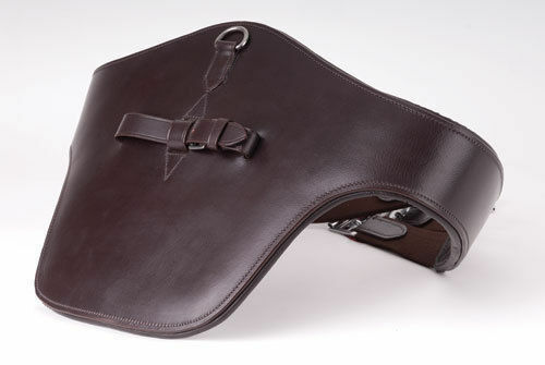 NEW Windsor Equestrian Leather Padded Stud Guard Jumping Girth BlackHavana