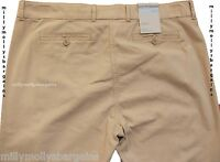 New Womens Marks and Spencer Beige Chino Trousers Size 10 DEFECT