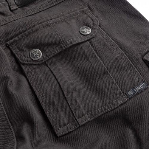 UNC uomo Cargo Shorts MODELLO HIGHWAY GRIGIO shorts pantaloni corti con tasche cargo