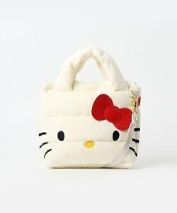 35ea785eb04d Hello Kitty Face Fluffy Mini Shoulder Bag Rootote Baby Roo Sanrio ...