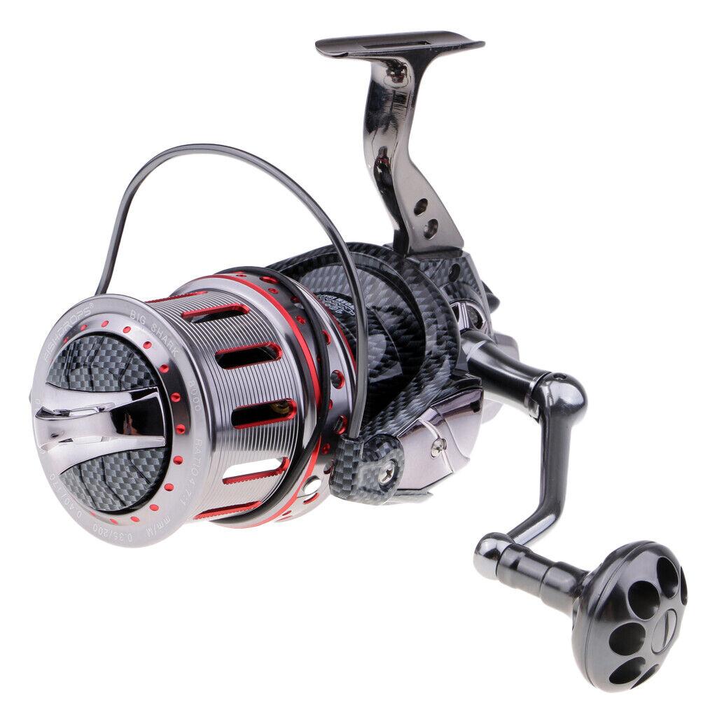 grand Long Casting Spinning Reel 10+1BB Metal Sea Fishing Reel for Big Fish