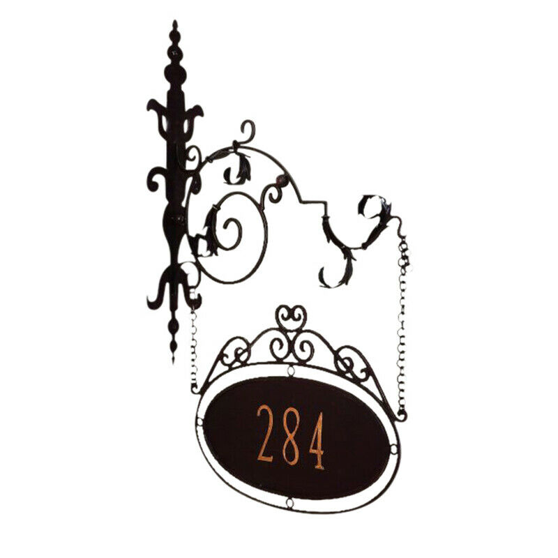LuxePersonalized Iron Address Sign House Number Wall Bracket Outdoor 5 Digit