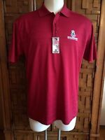 2011 Us Senoir Open Inverness Club Ahead Polo Shirt Ruby Red Men's Medium