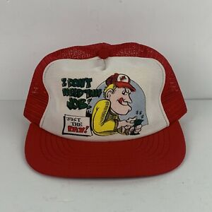 Vintage-Mesh-Tucker-Cap-Snapback-Hat-I-Don-t-Need-This-Job-Just-The-Pay