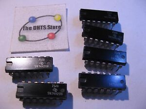 SN7420N-Texas-Instruments-TTL-IC-Dual-4-In-NAND-Gate-7420-Date-7528-NOS-Qty-6