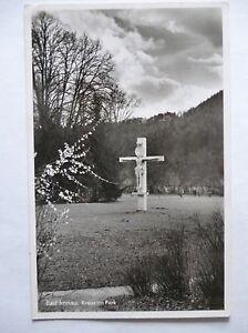 Ansichtskarte-Bad-Imnau-Kreuz-im-Park-1952