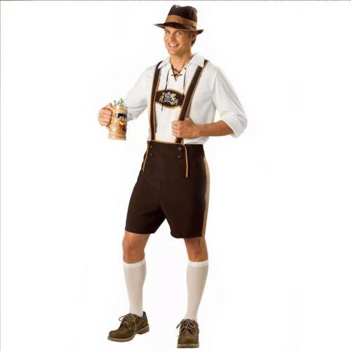 Men/'s Bavarian German Lederhosen Oktoberfest Octoberfest Beer Halloween Costumes