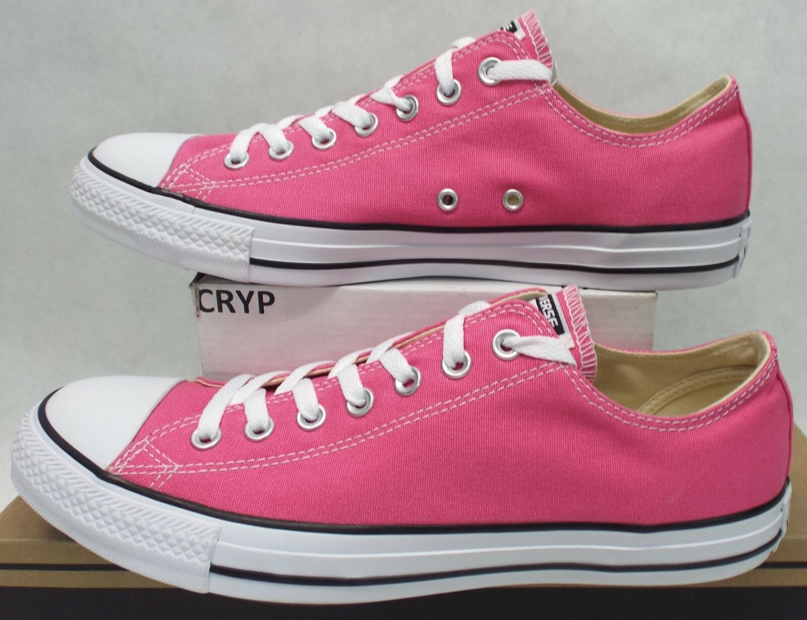 New Mens 8.5 Converse Chuck Taylor CT OX Carmine pink Pink shoes  60 137254F