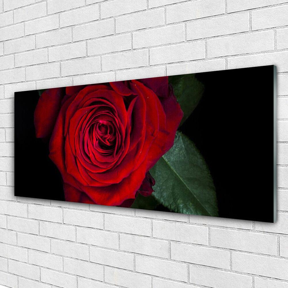 Machine peut ne peut Machine pas être perdu, tout à la nuit du carnaval de Noël Impression sur verre Image tableaux 125x50 Floral Rose 3c75d2