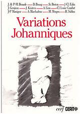 BOURG Dominique COULOT Claude LION Antoine - VARIATIONS JOHANNIQUES - 1989