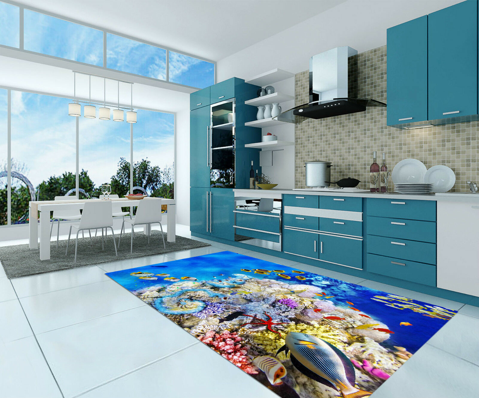3D Bright Sea 253 Kitchen Mat Floor Murals Wall Print Wall Deco AJ WALLPAPER CA