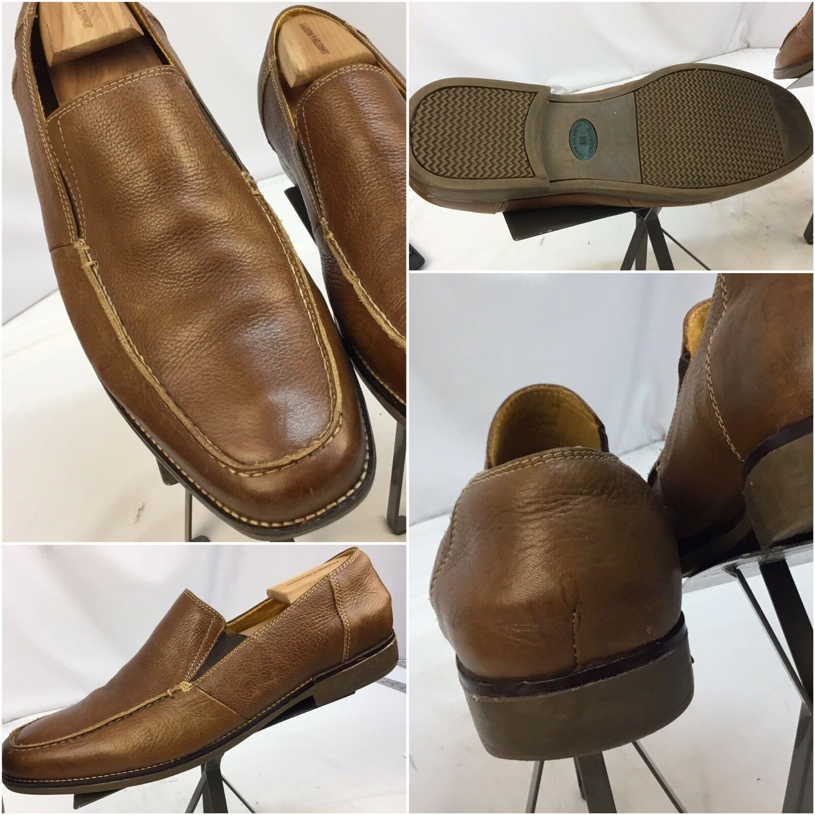 Sandro Moscolini Loafers Shoes Sz 13D Brown Pelle Made Brazil Mint YGI I7