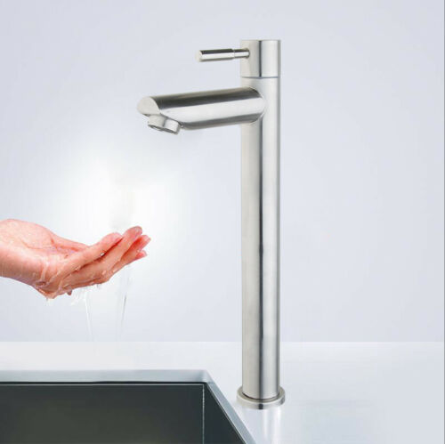 Tall Water Aluminum Kitchen//Bathroom Single Cold Faucet Single Handle Sink Taps