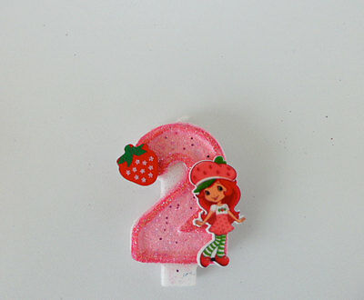 Cool Strawberry Shortcake Birthday Candle Cake Topper Cupcake Topper Funny Birthday Cards Online Elaedamsfinfo