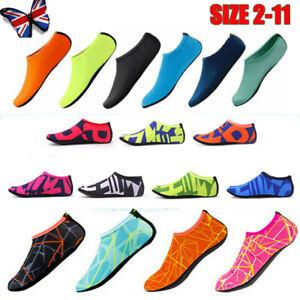 Reino-Unido-Ninos-Hombre-Mujer-Zapatos-de-agua-AQUA-Calcetines-Antideslizante-Playa-Natacion-Traje