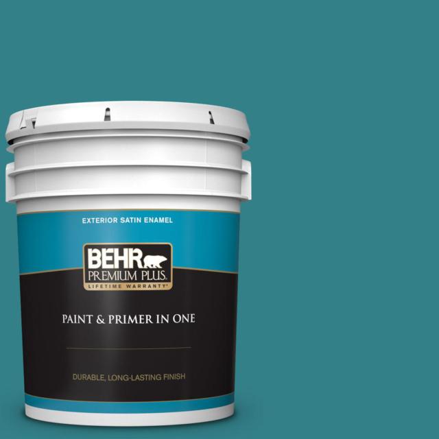 Behr Premium Plus 5 Gal M520 7 Admiral Blue Satin Enamel Exterior Paint And Pr For Sale Online Ebay