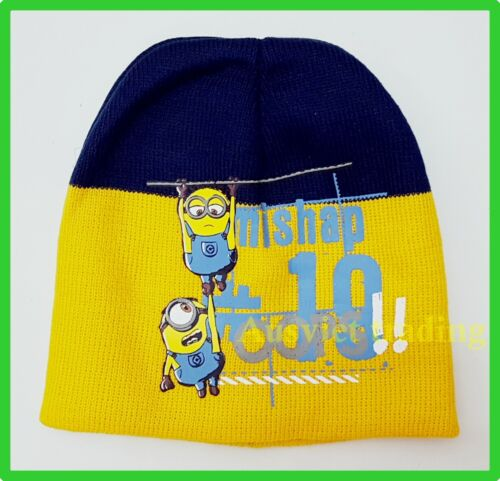BNWT Despicable Me Minions hat boys kids cartoon Beanie dual layers new release