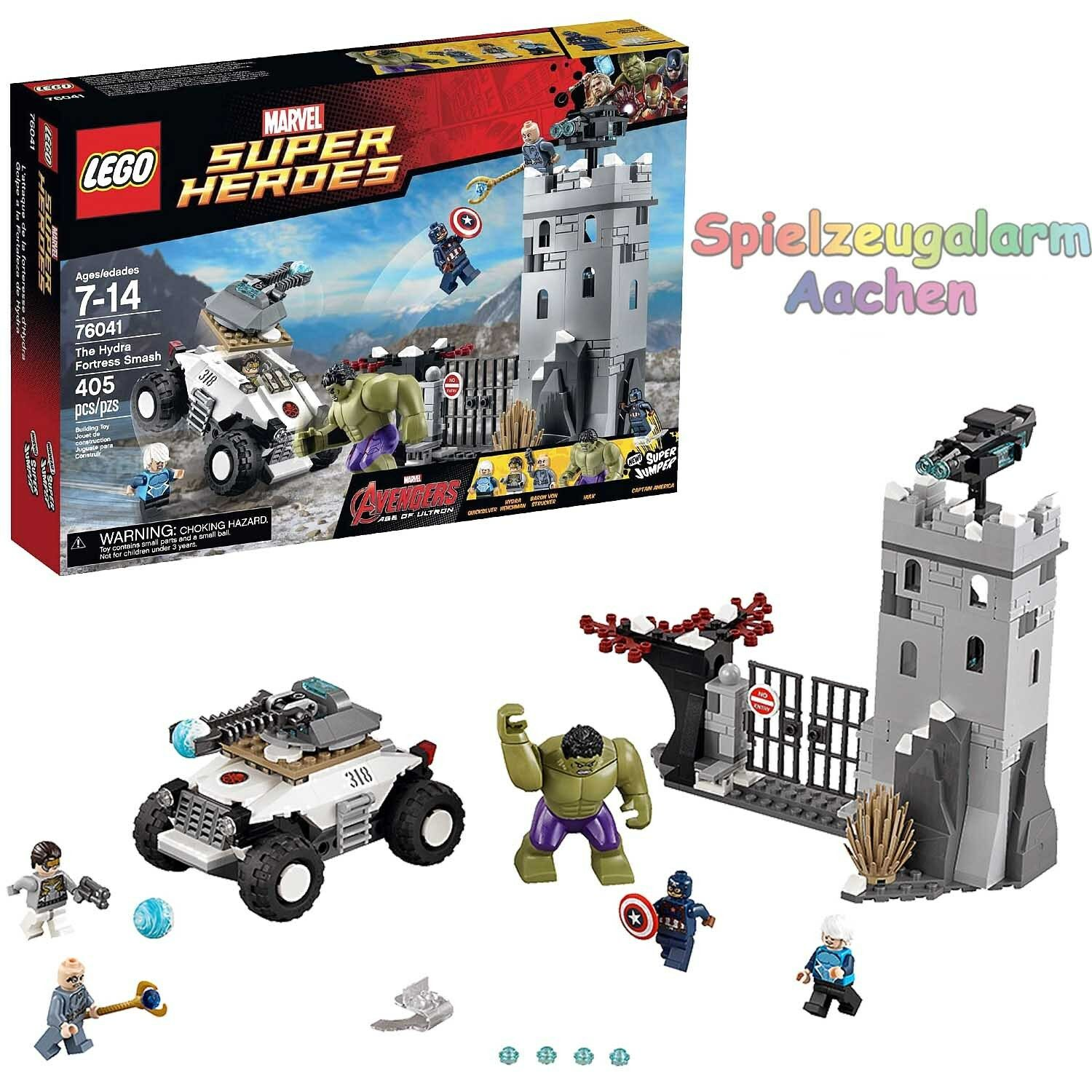 LEGO 76041 Super Heroes Marvel Avengers Festung The Hydra Fortress Smash NEW BNI