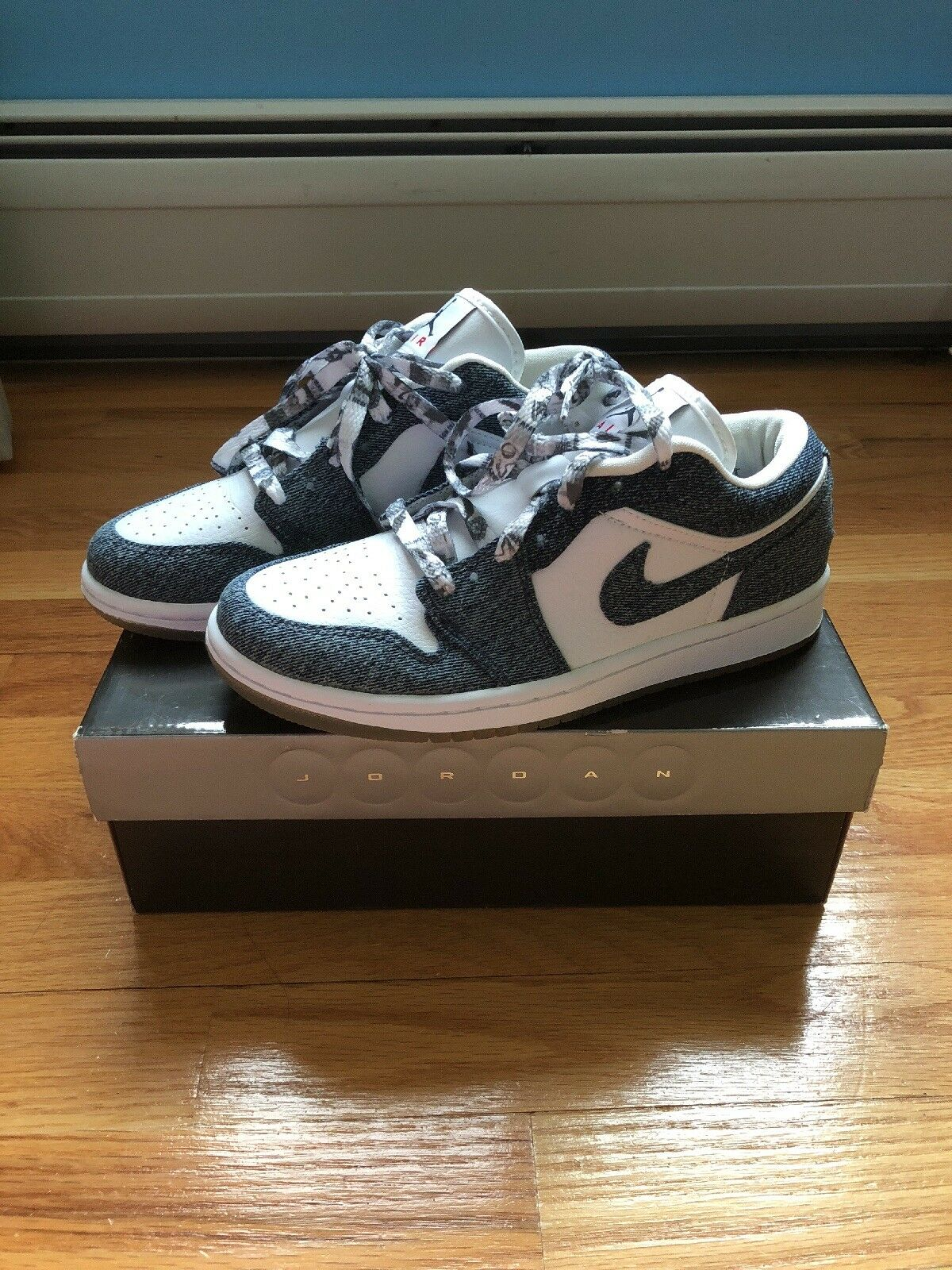 Nike Air Sneakers, Jordan Denim Retro Low Sneakers, Air women's size 6.5 e6452e