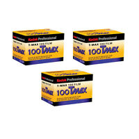3 Rolls Kodak Tmax 100 Pro Iso 100 Tmx-24 Black & White Negative 35mm Print Film