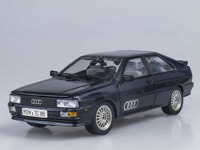 Scale model 1 18 AUDI QUATTRO COUPE, bluee 1981