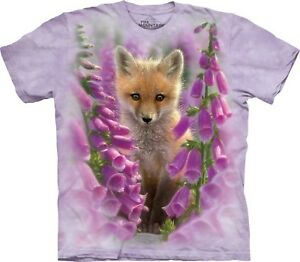 The-Mountain-Unisex-Adult-Foxgloves-Animals-T-Shirt
