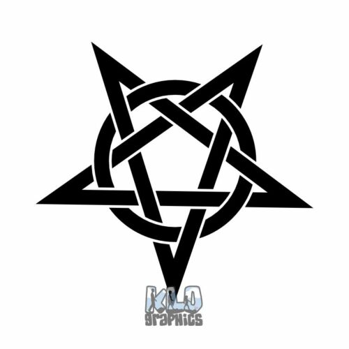 PENTAGRAM KNOT Sticker Decal WICCAN CELTIC DRUID PAGAN