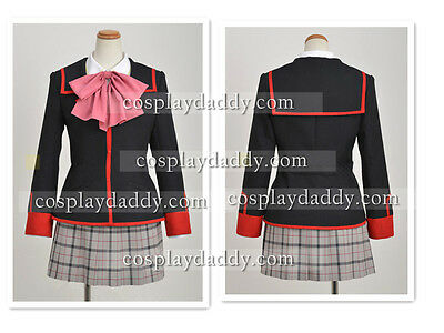 Little Busters Rin Natsume Rin Cosplay Costume School Girl Uniform H008