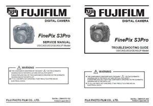 Fujifilm fuji finepix s3 pro digital camera service repair manual.