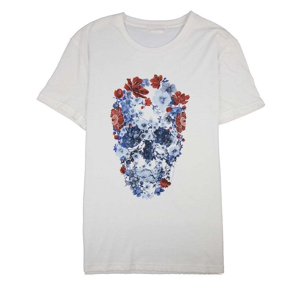 Alexander Mcqueen MCQ Flower Skull T-Shirt White