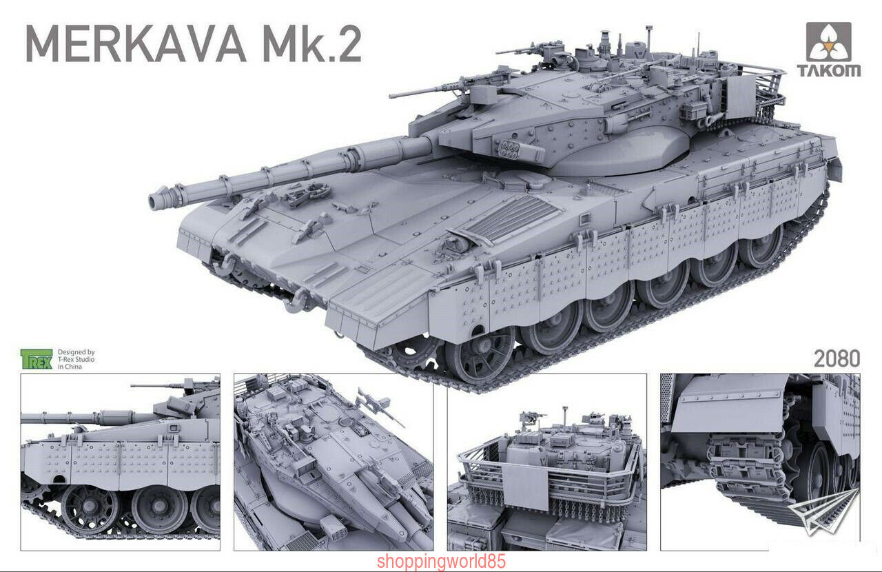 Takom 1 35 2080 Merkava Mk 2B Israeli Main Battle Models New FREE