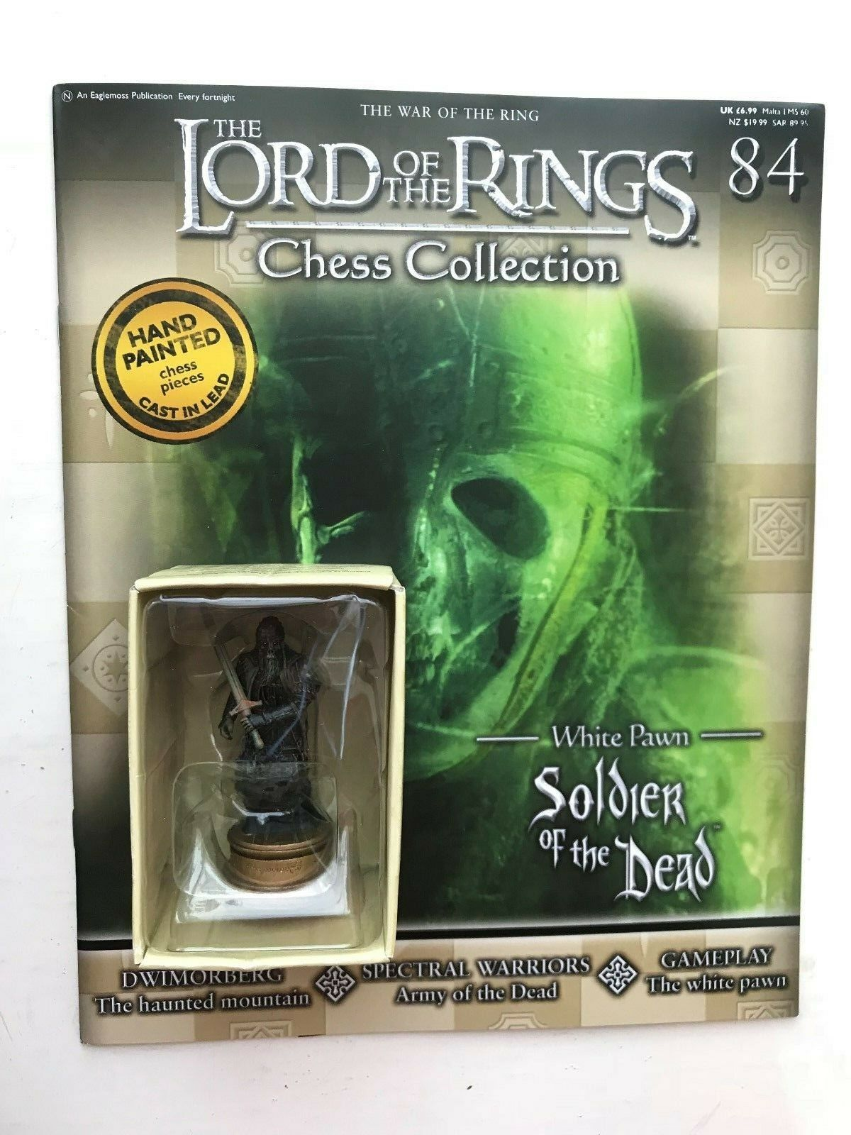 LORD OF THE RINGS CHESS COLLECTION 84 SOLDIER OF THE DEAD EAGLEMOSS FIGURE + MAG