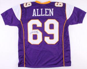 Details about Jared Allen Signed Vikings Jersey (TSE Hologram) 5xPro Bowl Defensive End