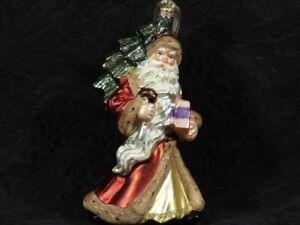 KOMOZJA FAMILY ST. NICK WITH CHRISTMAS TREE Glass Holiday ...