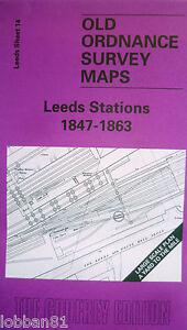 Old Ordnance Survey Map Leeds Stations 18471863 Large Scale Sheet