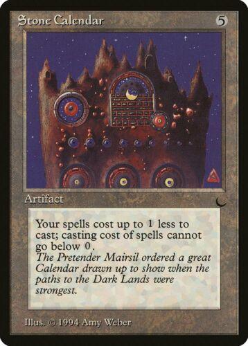 Stone Calendar The Dark HEAVILY PLD Artifact Rare MAGIC GATHERING CARD ABUGames