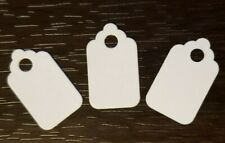 1000 Blank White Price Tags Size 1 Jewelry No String Unstrung Small 12 X 1