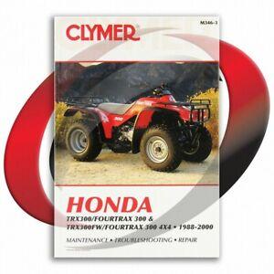 1988-2000-Honda-TRX300FW-FOURTRAX-300-4X4-Repair-Manual-Clymer-M346-3-Service