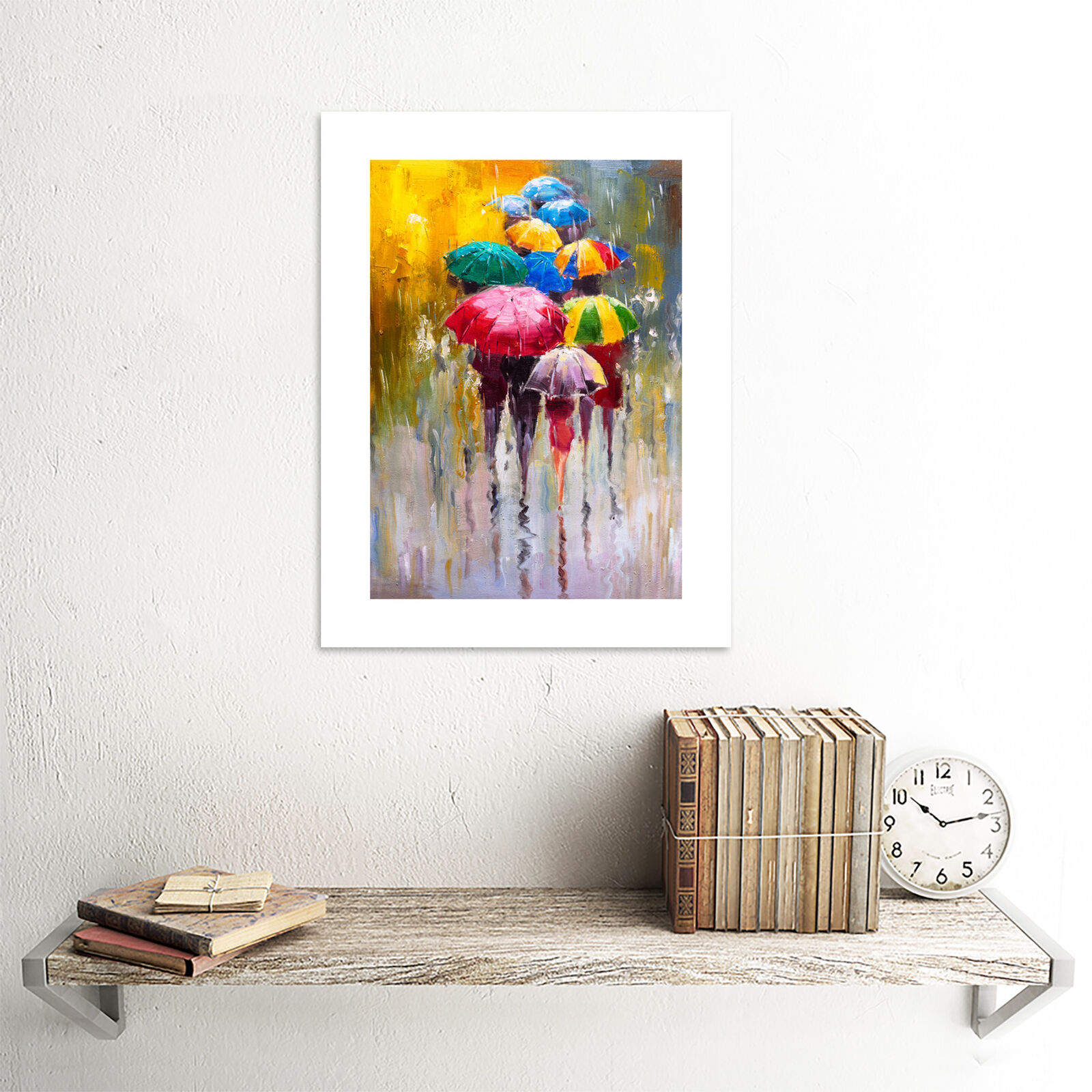PAINTING DANCING IN THE RAIN PRINT Canvas Wall Art Picture AB562 MATAGA .
